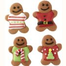 Royal Icing Decorations Gingerbread Men with Sweaters pk/12